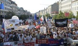 Další ze série demonstrací za demisi ministryně spravedlnosti Marie Benešové a premiéra Andreje Babiše