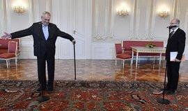 Prezident Miloš Zeman a předseda vlády Bohuslav Sobotka