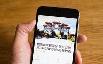 Aplikace Airbnb v čínštině