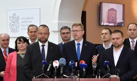 Představitelé KDU-ČSL po jednání poslaneckého klubu