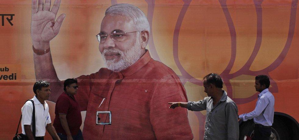 Plakát Naréndry Módího indického premiéra