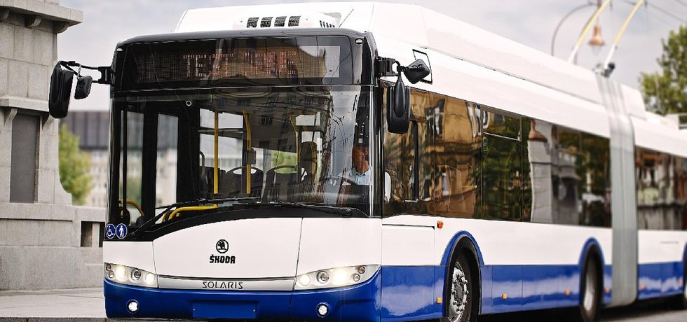 Trolejbus, ilustrační foto