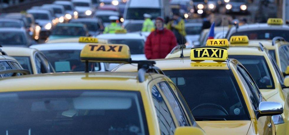 Pražští taxikáři