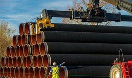 Příprava na stavbu plynovodu, ilustrační foto