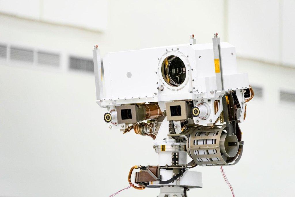 Detail roveru Mars 2020