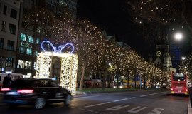 Vánočně vyzdobený Berlín, ilustrační foto