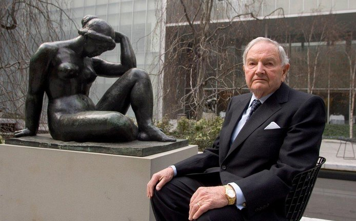 Miliardář David Rockefeller se dožil 101 let. Na snímku z roku 2006.