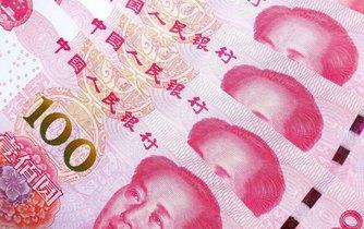 Čínské jüany - ilustrační foto