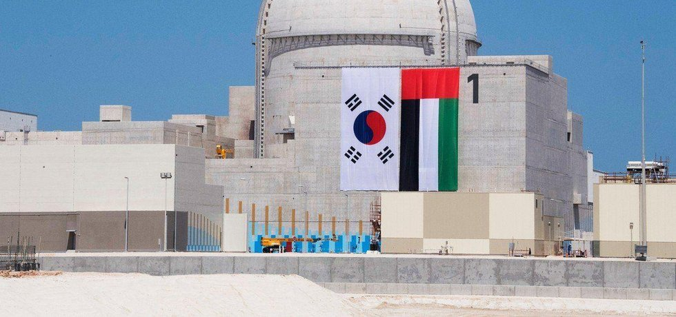 Rozestavěná jaderná elektrárna Barakah ve Spojených arabských emirátech