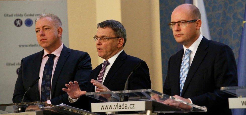 Milan Chovanec, Lubomír Zaorálek a Bohuslav Sobotka
