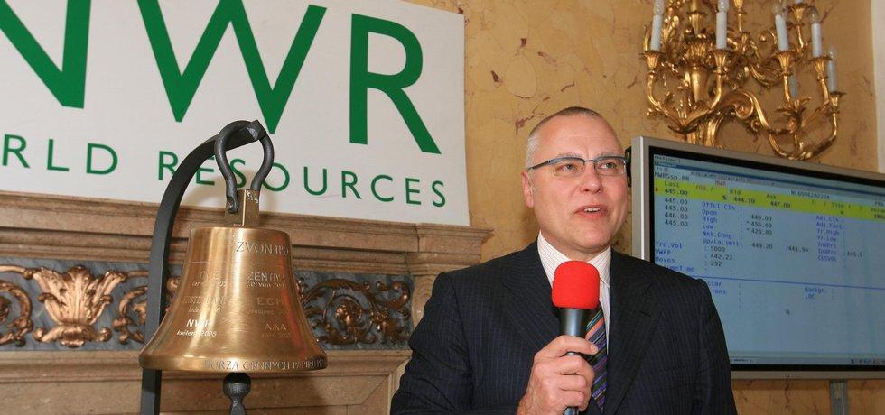 Spolumajitel NWR Zděnek Bakala uvádí firmu na pražskou na burzu