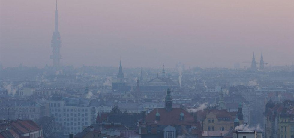 Smog nad Prahou, ilustrační foto