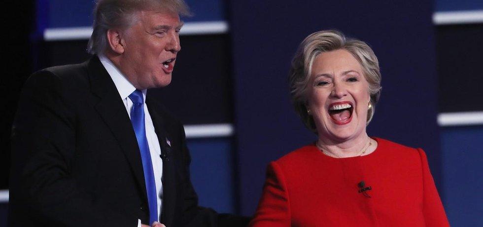 Donald Trump a Hillary Clintonová po první prezidentské debatě