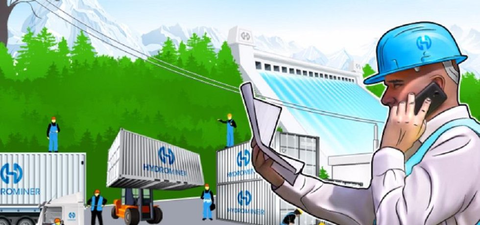 Vizualizace projektu HydroMiner.