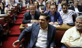 Alexis Tsipras na jednání Syrizy