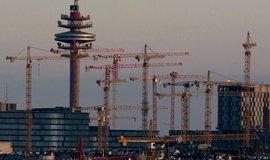 Jeřáby ve Vídni, výstavba čtvrti Quartier Belvedere