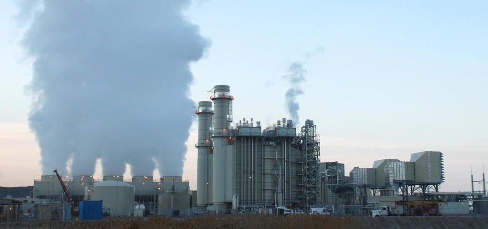 Uhelná elektrárna v americkém Lake Side