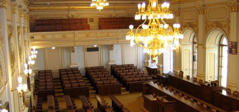 Poslanecká sněmovna, zasedací síň,