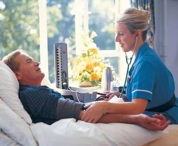 sestra, pacient, nemocnice, pokoj, tlak