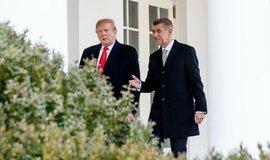 Donald Trump a Andrej Babiš v Bílém domě.