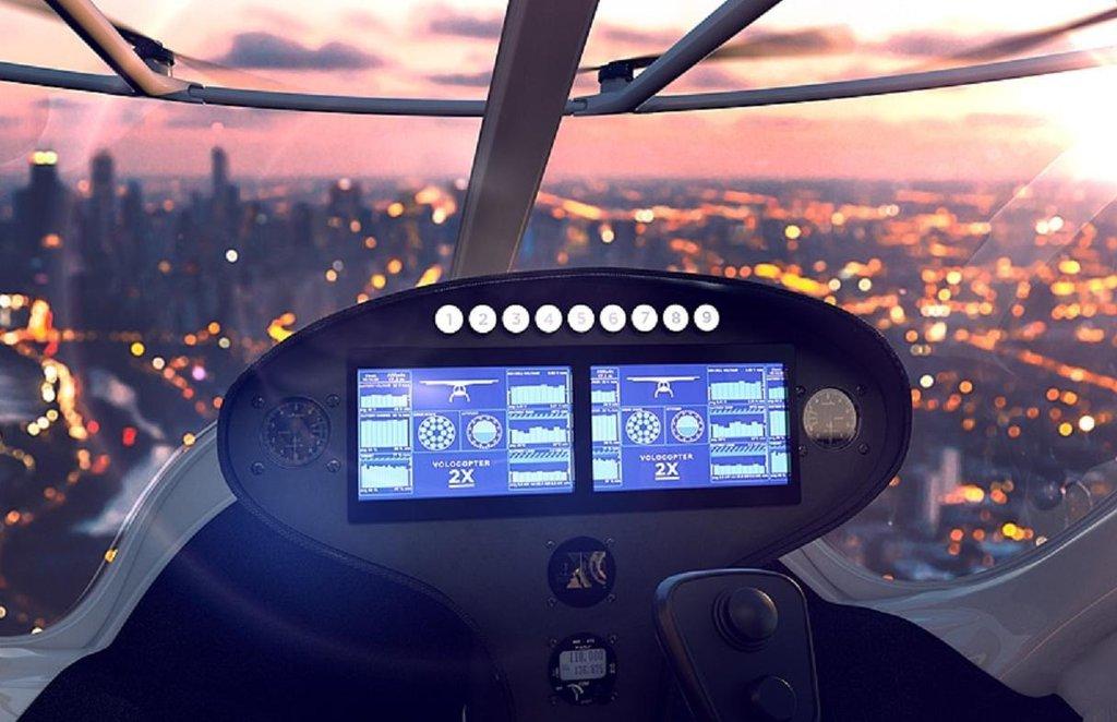 Autonomní plně elektrická volokoptéra německé firmy Volocopter.