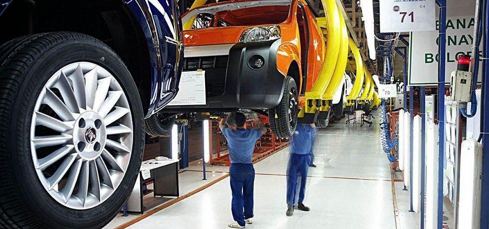 Výroba v automobilce Fiat v turecké Burse