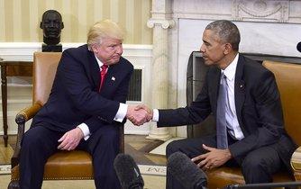 Donald Trump s Barackem Obamou