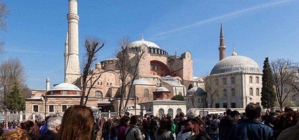 Istanbulský chrám Boží moudrosti Hagia Sofia