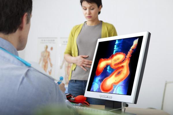 gastroenterologie, lékař, pacientka, praktik