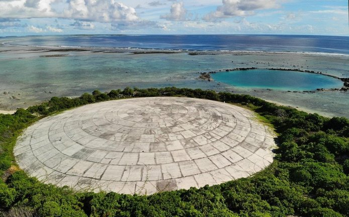 Zabetonovaný jaderný odpad na Marshallových ostrovech, ilustrační foto
