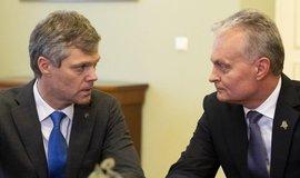 Šéf litevské rozvědky Darius Jauniskis a litevský prezident Gitanas Nauséda