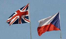 Britská a česká vlajka