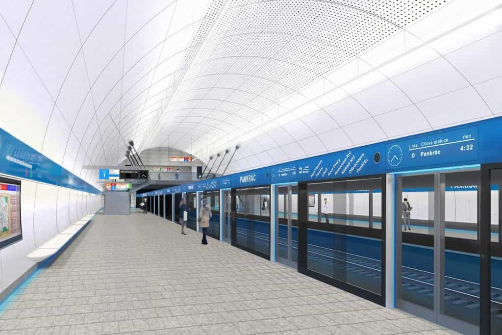 Vizulizace stanice metra D Pankrác