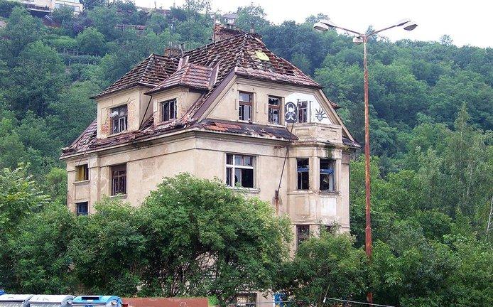 Vila Milada, někdejší sídlo squatterů