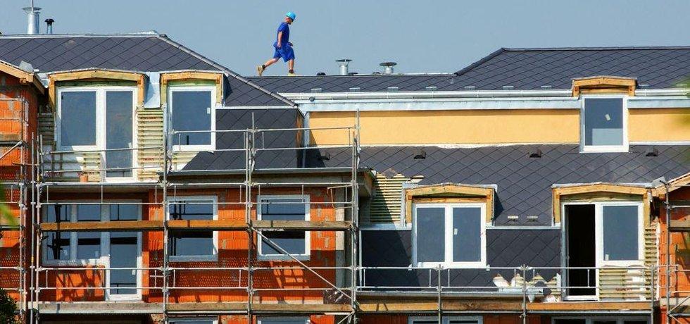 Výstavba bytového domu v Praze, ilustrační foto