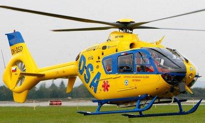 Vrtulník letecké záchranné služby společnosti DSA