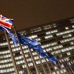 Vlajka Velké Británie v Bruselu, ilustrační foto
