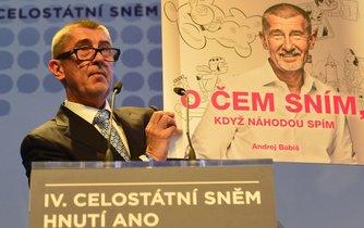 Andrej Babiš na sněmu ANO