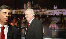 Jan Fischer a Miloš Zeman před prezidentskými volbami 2013