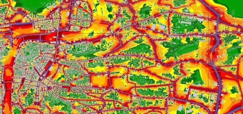 Příklad hlukové mapy