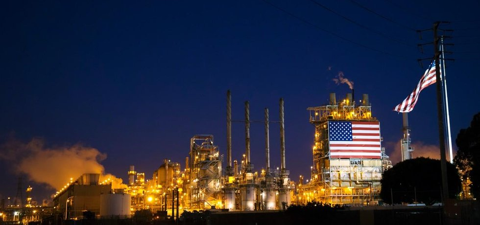 Rafinérie v USA, ilistrační foto