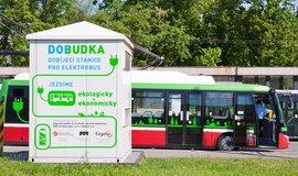 Nabíjecí stanice pro elektrobusy na Želivského