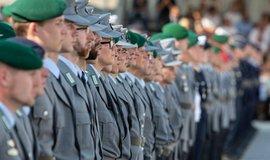 Přísaha nováčků u německé armády, ilustrační foto
