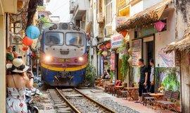 """Ikonická """"vlaková ulice"""" v Hanoji"""