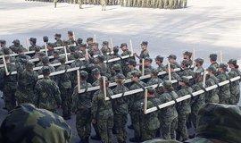 Nácvik pochodu na Univerzitě obrany