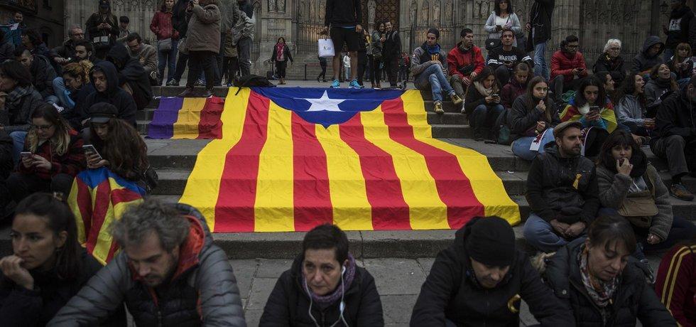 Protest v Katalánsku, ilustrační foto
