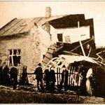 Pumou zničený dum V. Mezery v Orlové