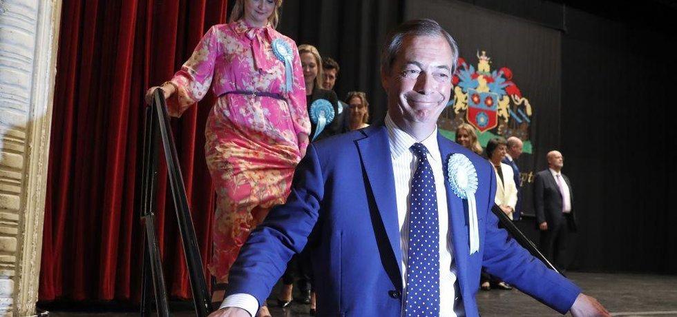 Lídr Strany pro brexit Nigel Farage