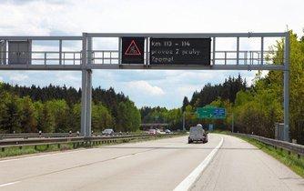 Varování na dálnici D1, ilustrační foto