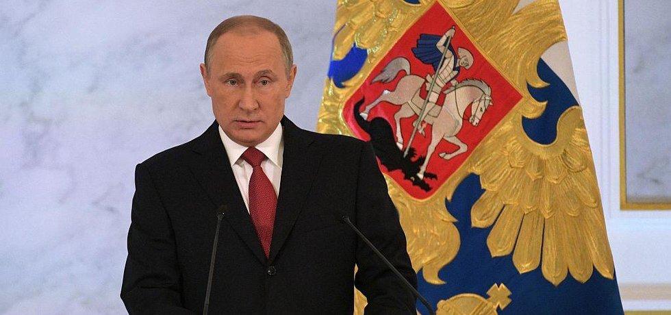 Vladimir Putin pronáší projev o stavu federace